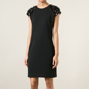 Michael Kors Black Dress w/ sequin cap sleeves 0